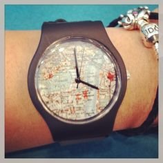 @darthv83r My new watch #may28th #vintage #map #watch