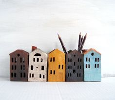 Tin House-Ceramic Pencil Holder-Dark Chocolate-Ceramics And Pottery
