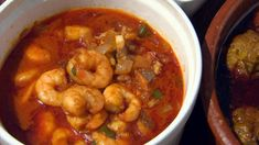 """These """"Gambas al ajilo"""" (Spanish garlic prawns) are great served as part of a tapas selection. Serve with crusty bread to mop up the juices. Prawn Recipes, Tapas Recipes, Fish Recipes, Seafood Recipes, Cooking Recipes, Spanish Recipes, Buffet Recipes, Catering Recipes, Greek Recipes"""