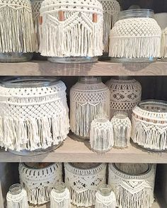 Just some jars on a shelf Macrame Jars, vase, containers