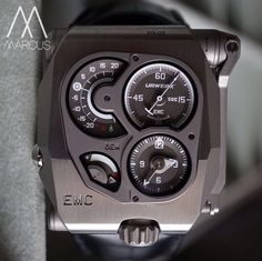 Urwerk EMC, aka 'Artificial Intelligences' in titanium. Amazing Watches, Cool Watches, Watches For Men, New Technology Gadgets, Gift Of Time, Modern Watches, Time Design, Antique Clocks, Fashion Watches