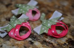 LOVE THESE! pink berry trio non slip hair clips by littlemunchkinpie on Etsy, $10.00