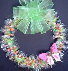 Candy wreath st patricks green edible unique gift decoration gold jelly bean candy wreath easter edible gift centerpiece by candywreathsbycarla on etsy https negle Choice Image