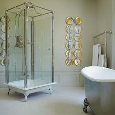 Love this free standing shower by Drummonds-UK! Classic Showers, Georgian Mansion, Standing Shower, Vanity Basin, Provence, Victorian Bathroom, Shower Units, Basement Bathroom, Bathroom Ideas