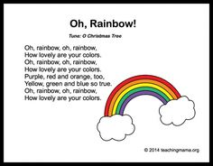 10 Preschool Songs About Colors Preschoolers LOVE songs and I believe it is very important to bring music into the preschool classroom or home preschool. I have shared these 10 preschool transitions, but today I am getting more specific and sharing 10 Preschool Poems, Preschool Colors, Kids Poems, Preschool Music, Preschool Lessons, Preschool Classroom, Spring Songs For Preschool, Rainbow Crafts Preschool, Forest Classroom