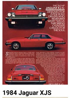 Jaguar XJS: A real low-point in car design and advert design. Jaguar S Type, Jaguar Xj, Jaguar Cars, Auto Retro, Retro Cars, Dream Cars, Advert Design, 2013 Jaguar, Automobile