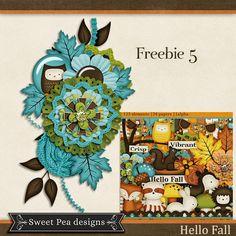 Scrapbooking TammyTags -- TT - Designer - Sweet Pea Designs, TT - Item - Element, TT - Style - Cluster, TT - Theme - Autumn or Thanksgiving