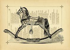 Rocking Horse Tattoos Designs