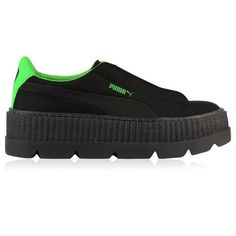 wholesale dealer 70f7c a4ff3 Fenty Puma By Rihanna Creeper Logo Trainers ( 180) ❤ liked on Polyvore  featuring shoes, sneakers, black, puma trainers, creeper platform shoes,  puma ...