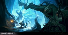 Concept Paintings by Tommy Kinnerup, via Behance