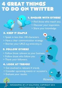 LYF SOLUTIONS 2014 Twitter Infographic for all those needing some help on the tweet platform.