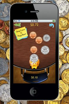 Money Counting Lite ($0.00)   Lots of fun with this, an amazing educational app that teaches how to count money using any of the following 3 games:      Drag Coing to Piggy Bank.   Count the groups and type the answer below.   Find the right answer for given group of coins.    You can set the sound on or off.