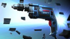Máy khoan động lực Bosch GSB 16 RE sử dụng mô tơ với công suất mạnh mẽ 750W có khả năng khoan tường, gạch, đá kết hợp và khoan gỗ, kim loại và nhựa chính xác với hiệu suất cao nhất.
