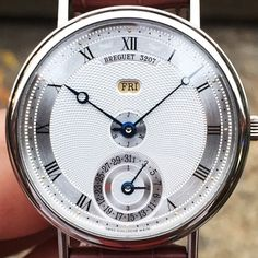 Rare and understated Breguet Linear Perpetual Calendar in white gold. #europeanwatchco