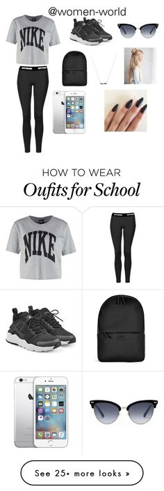 What I wear to school by starbucks-is-bae123 on Polyvore featuring NIKE, Topshop, Rains and Gucci