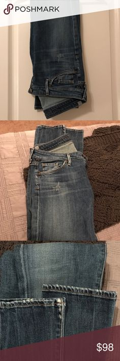 Just In 🥁🆕Citizens of Humanity skinny jeans Genuine Citizens of Humanity Made in USA skinny distressed jeans, style name Racer , there's were saved from collection , since citizens logo & traditional distressed points in photo, long length, 98% cotton 2%!polythurane , size 26 Citizens Of Humanity Jeans Skinny