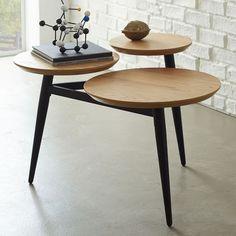 Clover Coffee Table – Wheat/Black | west elm
