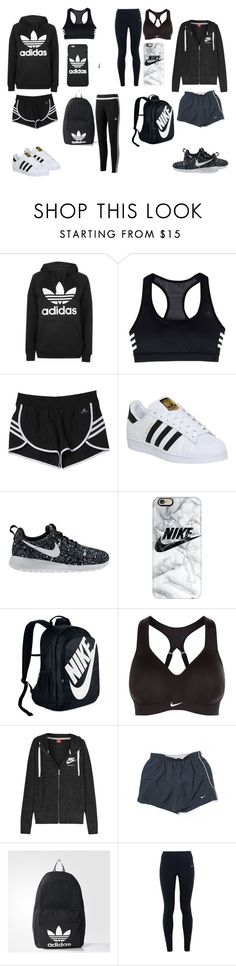 """""""Adidas or Nike <3 - Nike or Adidas <3"""" by cassi-manzanares ❤ liked on Polyvore featuring Topshop, adidas, NIKE and Casetify"""
