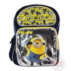 Despicable Me 2 Minion Yellow Bello! Large 16 Inch Backpack School Bag