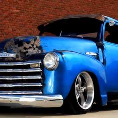 slammed 1950 chevrolet 3100 short bed truck