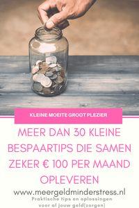 Meer dan 30 kleine bespaartips die samen meer dan € 100 per maand opleveren!
