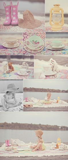 Tea Party on the dock, I am doing this come summer!!