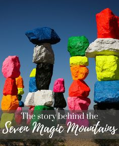The story behind the mysterious Seven Magic Mountains, just off I-15
