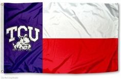 TCU TEXAS FLAG