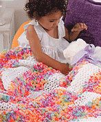 Free crochet pattern download-colourful throw