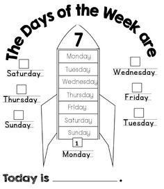 Enjoy Teaching English: Days of the Week (coloring worksheets)