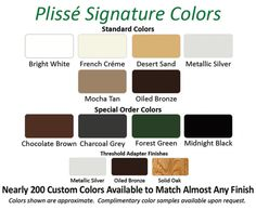 Standard and Custom Colors Available for Plisse Retractable Screens