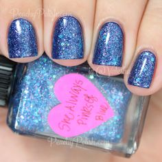 Lynnderella She Always Pinks Of Blue | Peachy Polish - WOW