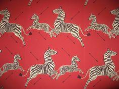 zebra wallpaper. by franco/flora scalamandre. 1945.