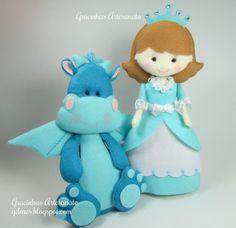 Gracinhas Artesanato: A princesa Carlota e o Dragão Gugui