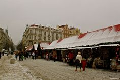 Christmas Markets: Old Town Square in Prague.
