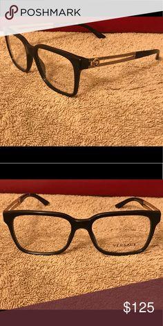 ffa5300565 Authentic Versace Eyeglass Frames Shiny Black Gold Versace Accessories  Glasses Best Eyeglasses