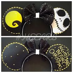 Jack Skellington Mouse Ears! Get yours today on our etsy! Also available: Sally…