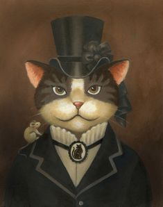 victorian art | More Cat Art from a Dog Person | Curious Portraits