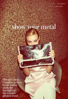 """Sarah Gadon Gives Us Glitz in """"Show Your Metal"""" by Jon Gorrigan for Instyle UK February 2013 - 8 Style   Sensuality Living - Anne of Carversville Women's News"""