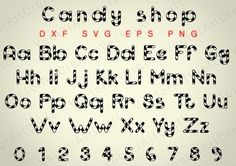 Candy shop  eps Alphabet Numbers font dxf SVG от VectorArtCraft