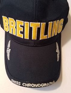 a27fef785e9a3 Breitling Watches Swiss Cronographs w   Anchor Logo Navy Snapback Cap Since  Excellent used condition Breitling Baseball Cap written in Gold and on the  brim ...