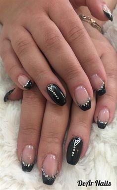 161 Mejores Imágenes De Uñas Negras Hair Beauty Black Nails Y