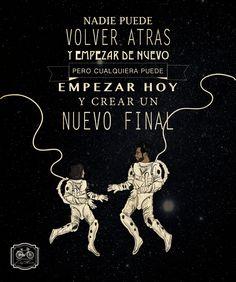 nadie puede volver atrás y empezar de nuevo, pero cualquiera puede empezar hoy y crear un nuevo final! diseño mexicano ilustración gif love #diegofernandomx