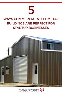 There are many things you must consider when starting your small business, one of which is your office building or storefront. Find out 5 reasons why prefabricated steel metal buildings are the best choice for new businesses on our blog. Metal Storage Buildings, Metal Garages, Steel Buildings, Metal Building Kits, Steel Metal, Built In Storage, Start Up Business, Store Fronts, Commercial