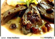 Vepřový jazyk na brusinkách Steak, Pork, Food And Drink, Beef, Kale Stir Fry, Meat, Steaks, Pork Chops