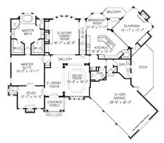 This traditional design floor plan is 4759 sq ft and has 4 bedrooms and has bathrooms. Traditional House Plans, Traditional Design, I Love House, Mountain House Plans, Home Design Plans, House Floor Plans, How To Plan, Plan Plan, Sunroom