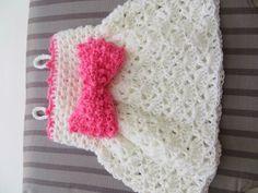 The Little Bow Peep Dress, Crochet Baby Dress Pattern, Sizes Newborn to 2 Years, Pdf Pattern