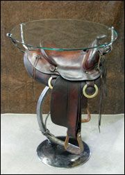 I think I will do this w/ my old Victorian Side Saddle !!!!