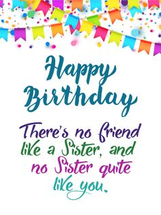 No Sister Quite Like You Happy Birthday Card