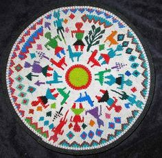 Detailed Story African Zulu Telephone Wire Basket/Plate